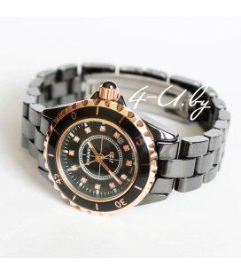 Керамические часы Chanel J 12 Small Black&Gold